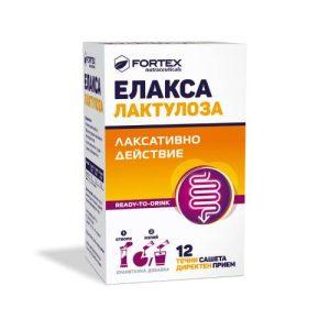 Elaxa Lactulose liquid sachets x12