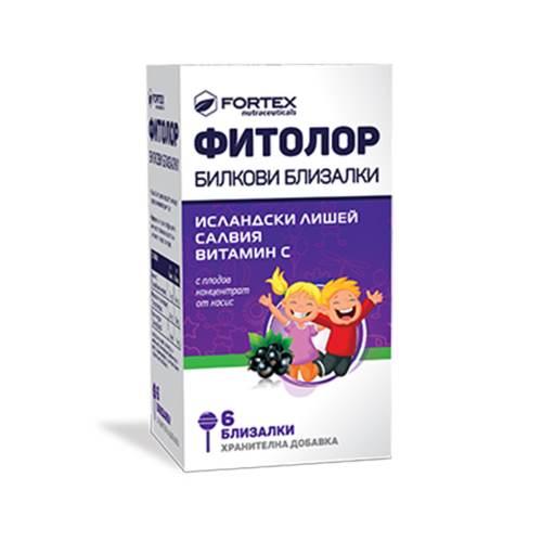 Fortex - Phytolor herbal lollipops x6