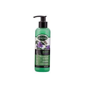 Geranium shower gel for fresh and soft skin x200ml