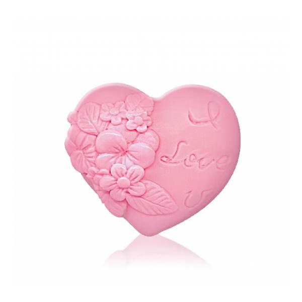"""GLYCERIN SOAP """"HEART IN LOVE"""" - PINK x65 GR"""