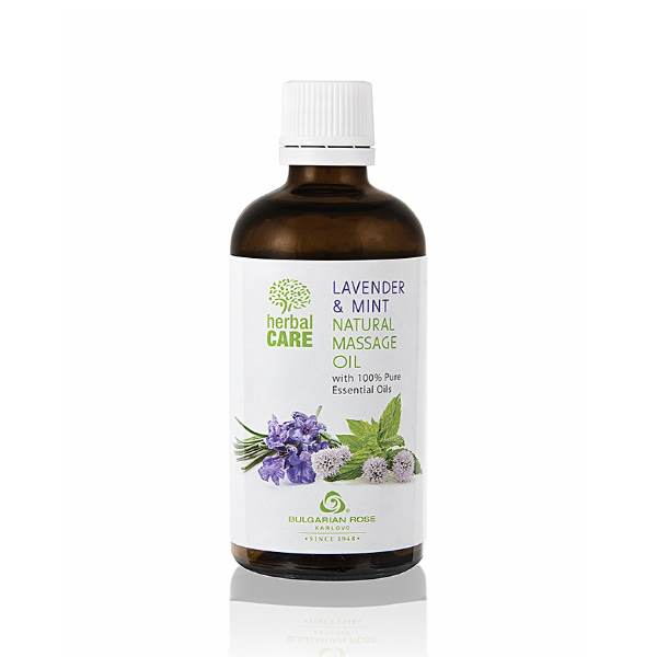 HERBAL CARE NATURAL MASSAGE OIL LAVENDER AND MINT x100 ML