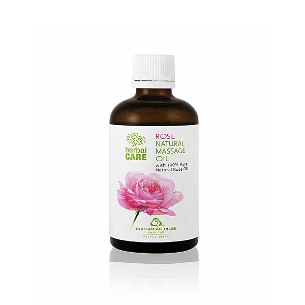 HERBAL CARE NATURAL MASSAGE OIL ROSE x100 ML